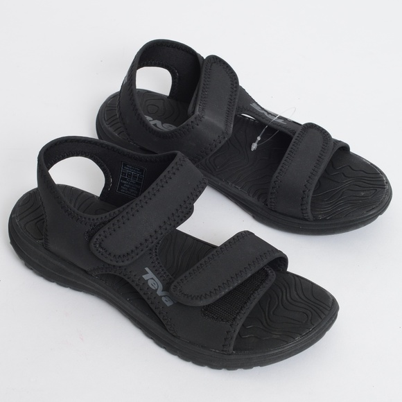 7997c3e525f1 NWT Teva Tidepool Sport Water Solid Black Sandals